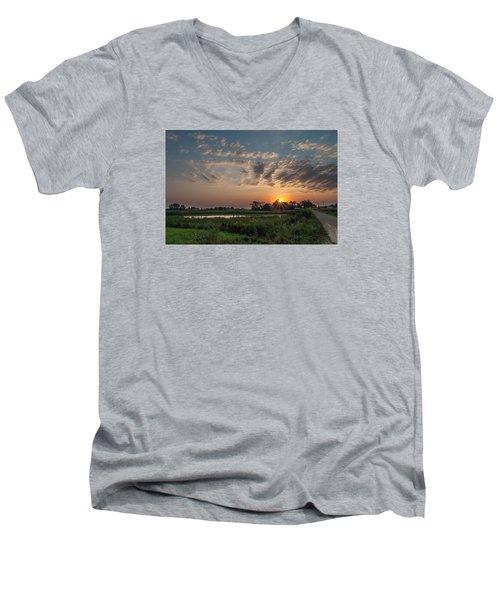 Farmstead Sunrise Men's V-Neck T-Shirt