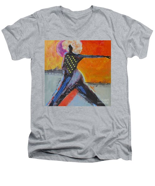 Fashionista Men's V-Neck T-Shirt by Ron Stephens