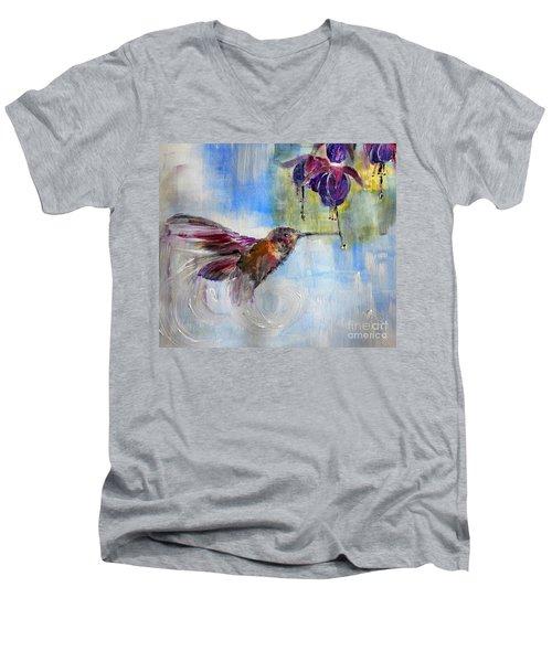 Fast Fuchsia Checkout Men's V-Neck T-Shirt