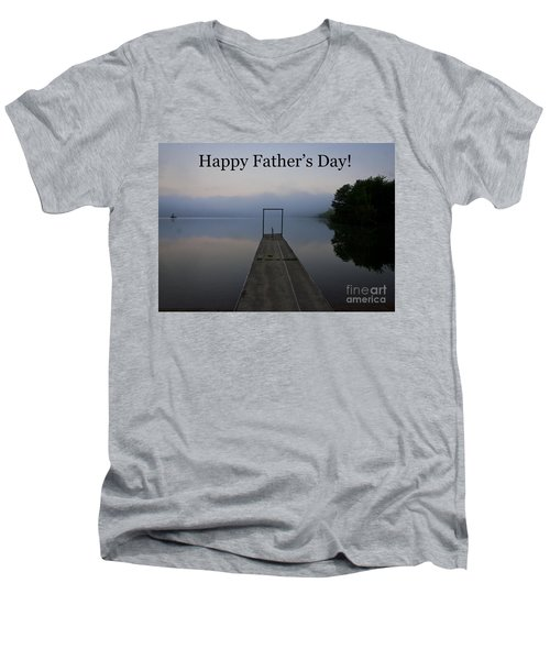 Men's V-Neck T-Shirt featuring the photograph Father's Day Dock by Douglas Stucky