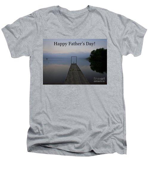 Father's Day Dock Men's V-Neck T-Shirt by Douglas Stucky