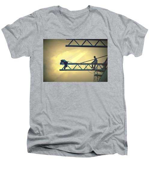 Fearless Sky Workers Men's V-Neck T-Shirt
