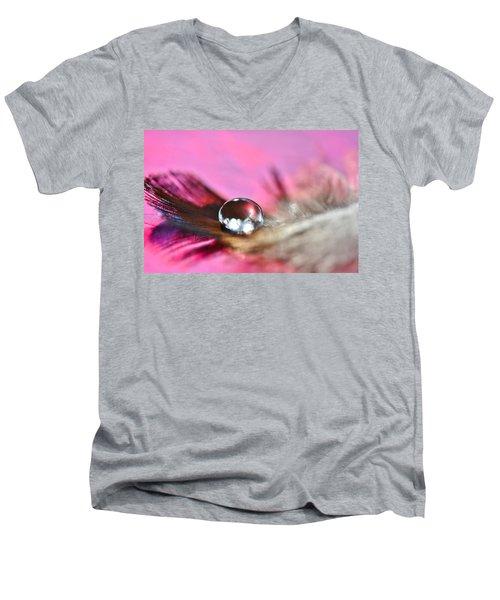 Feather Drop Men's V-Neck T-Shirt by Diane Alexander