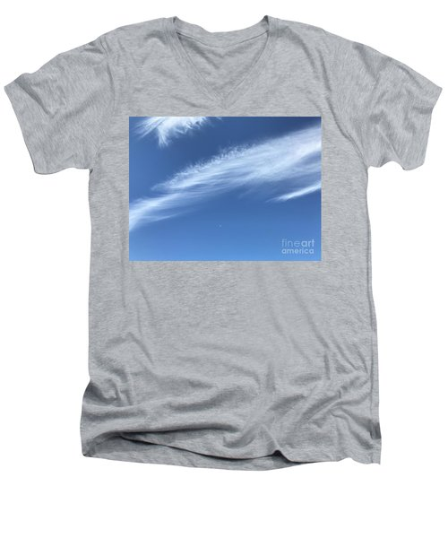 Feather In The Sky Men's V-Neck T-Shirt
