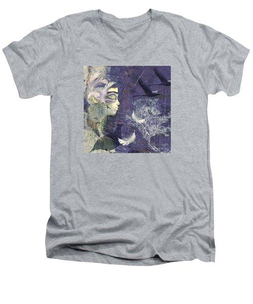 Feathered Friends Men's V-Neck T-Shirt by LemonArt Photography