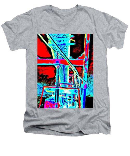 Feb 2016 36 Men's V-Neck T-Shirt by George Ramos