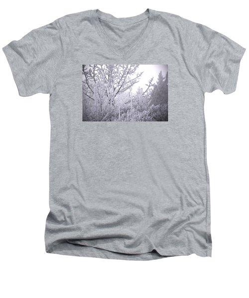 February Men's V-Neck T-Shirt by Ellery Russell