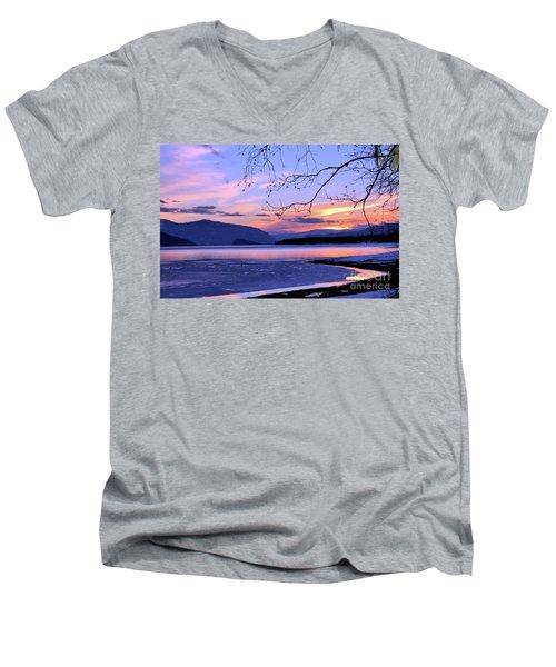 February Sunset 2 Men's V-Neck T-Shirt by Victor K