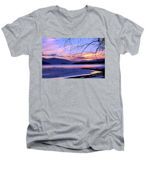 February Sunset 2 Men's V-Neck T-Shirt