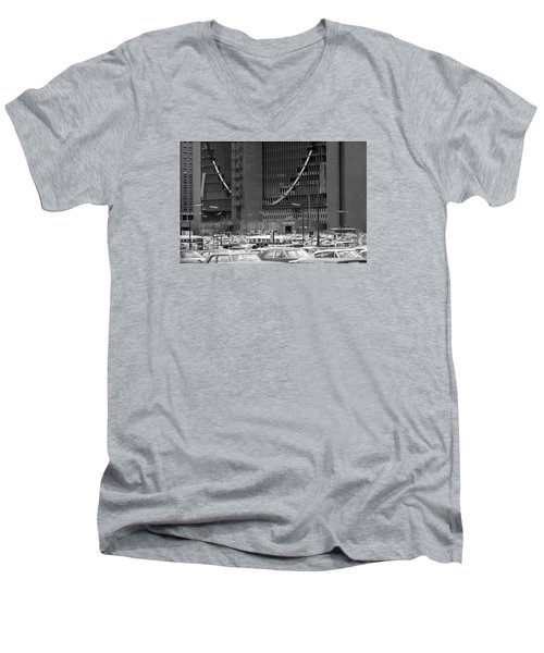 Federal Reserve Under Construction Men's V-Neck T-Shirt