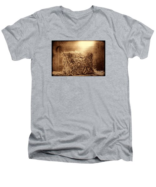 Feed Men's V-Neck T-Shirt by American West Legend By Olivier Le Queinec