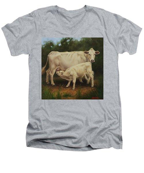 Feeding In The Forest Men's V-Neck T-Shirt
