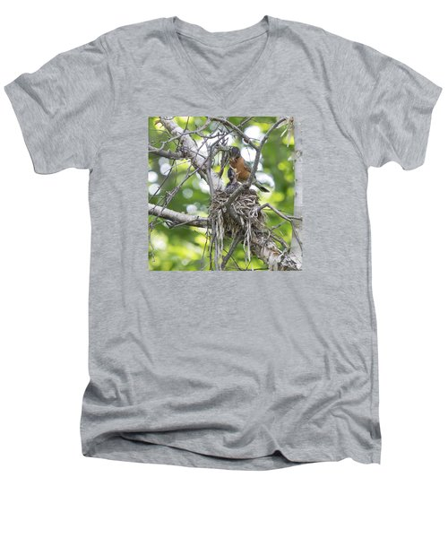 Feeding Time Men's V-Neck T-Shirt