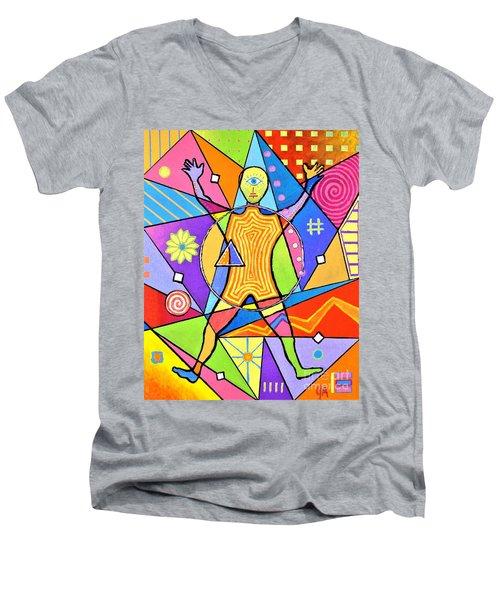 Feel The Vibes Men's V-Neck T-Shirt