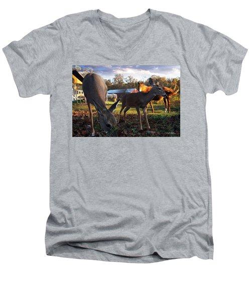 Feeling At Home Men's V-Neck T-Shirt by Bill Stephens
