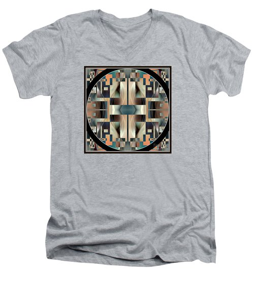 Female Abstraction Image Five Men's V-Neck T-Shirt