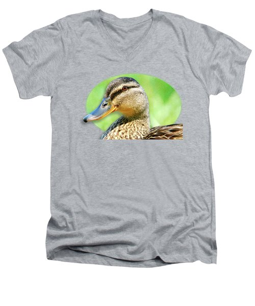 Female Mallard Duck Men's V-Neck T-Shirt