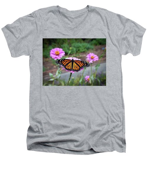 Female Monarch  Men's V-Neck T-Shirt