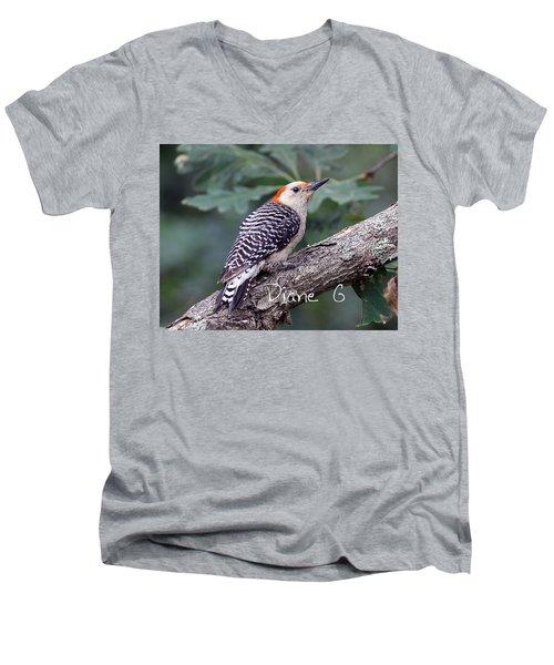 Female Red-bellied Woodpecker Men's V-Neck T-Shirt by Diane Giurco