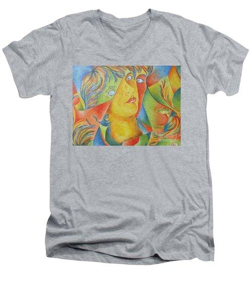Femme Aux Trois Visages Men's V-Neck T-Shirt