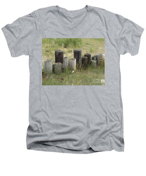 Fence Post All In A Row Men's V-Neck T-Shirt