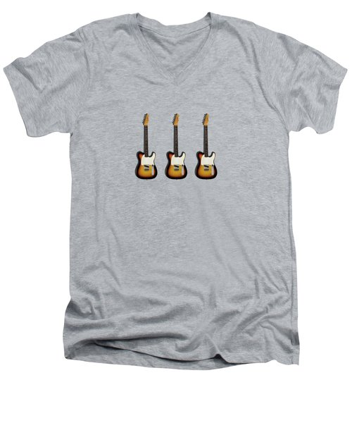 Fender Esquire 59 Men's V-Neck T-Shirt by Mark Rogan