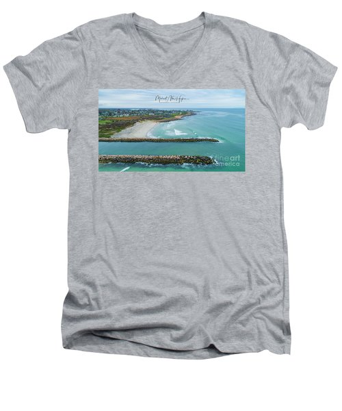 Fenway Beach, Weekapaug Men's V-Neck T-Shirt