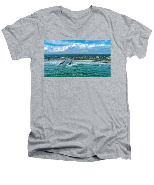 Fenway Beach, Weekapaug,ri Men's V-Neck T-Shirt
