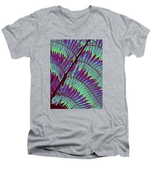 Fern In Technicolor Men's V-Neck T-Shirt