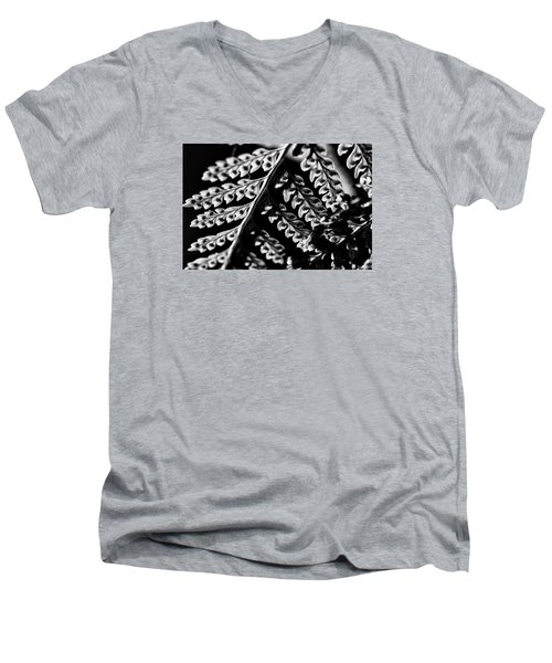 Fern Men's V-Neck T-Shirt by Kevin Cable