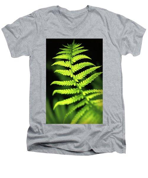Fern Leaf Men's V-Neck T-Shirt