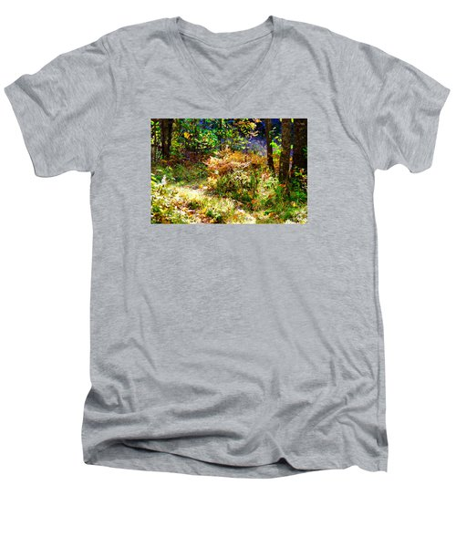 Men's V-Neck T-Shirt featuring the photograph Ferns by Susan Crossman Buscho
