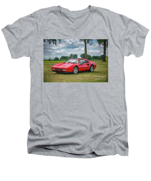 Men's V-Neck T-Shirt featuring the photograph Ferrari 328 Gts by Adrian Evans