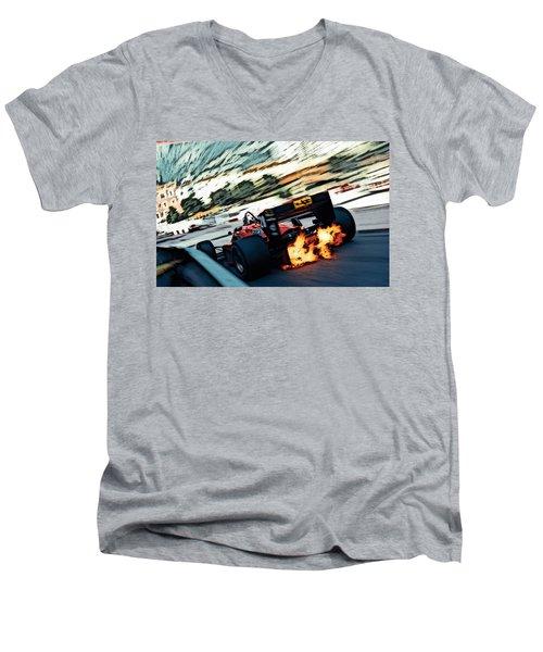 Ferrari 156/85 V6 Men's V-Neck T-Shirt by Thomas M Pikolin