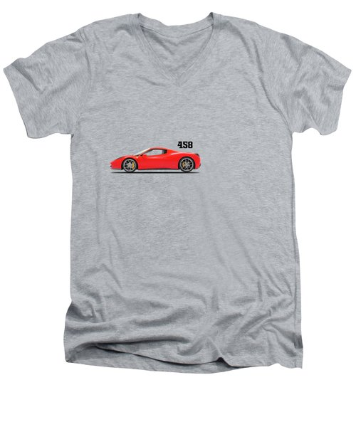 Ferrari 458 Italia Men's V-Neck T-Shirt