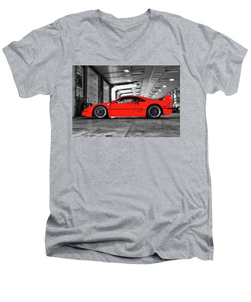 Ferrari F40 Men's V-Neck T-Shirt