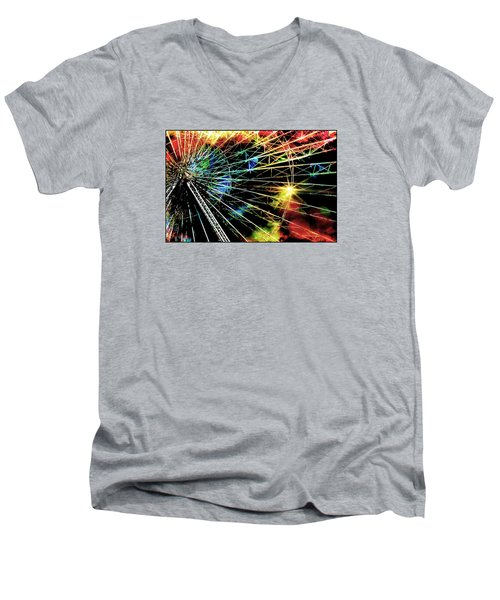 Ferris Wheel, Grand Roue Men's V-Neck T-Shirt