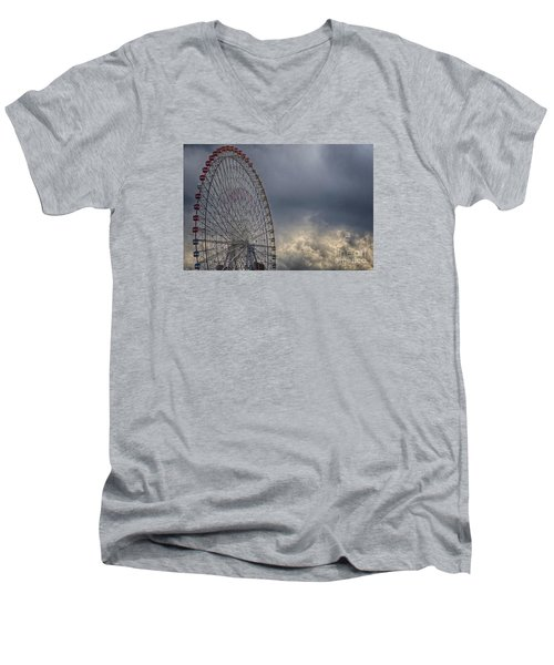 Ferris Wheel Men's V-Neck T-Shirt by Tad Kanazaki