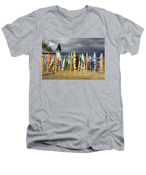 Festival Of The Crayons Men's V-Neck T-Shirt