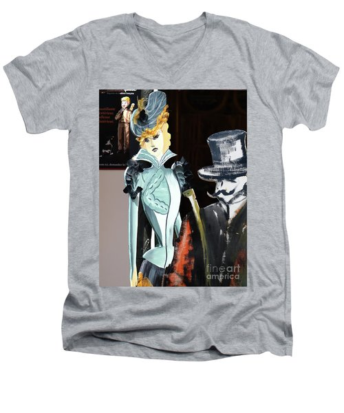 Fete-soulac-1900_21 Men's V-Neck T-Shirt