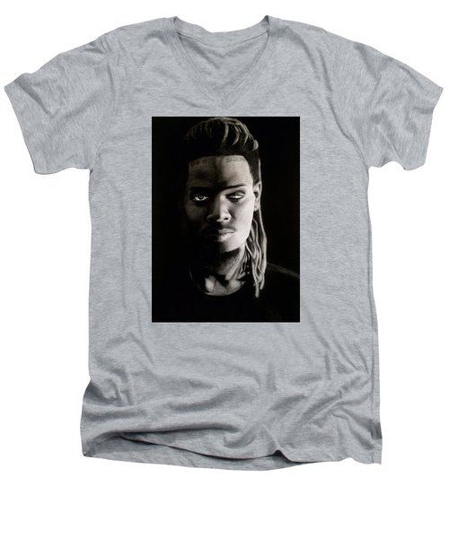 Fetty Wap Drawing Men's V-Neck T-Shirt