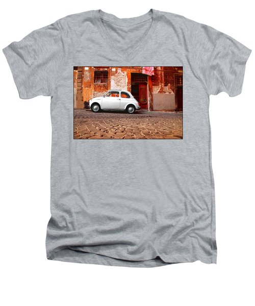 Fiat 500 Men's V-Neck T-Shirt