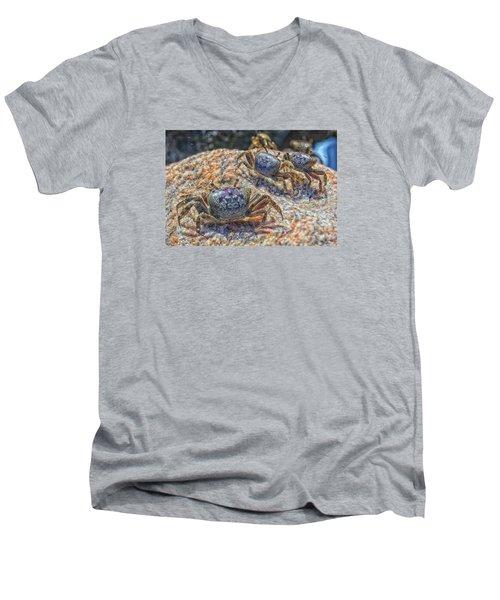 Fiddler Crabs Men's V-Neck T-Shirt by Constantine Gregory