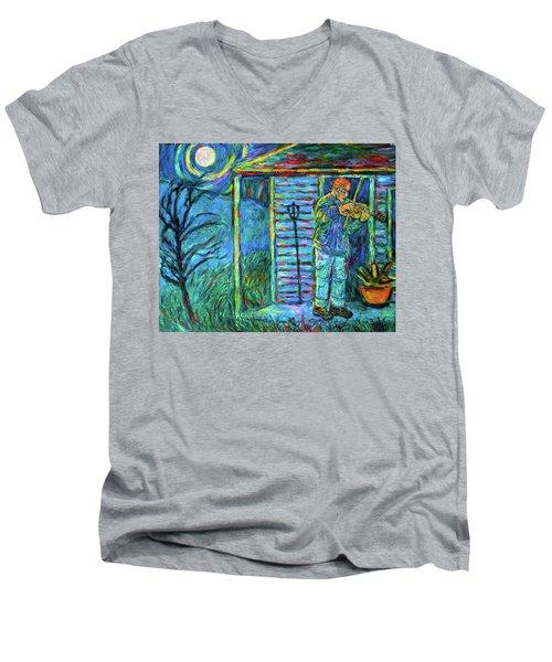 Fiddling At Midnight's Farm House Men's V-Neck T-Shirt