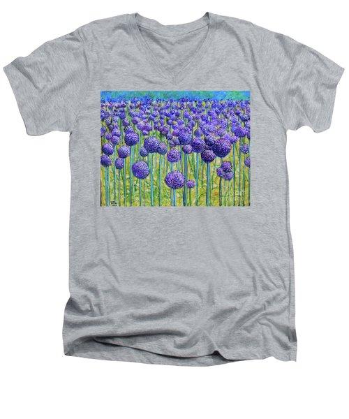 Field Of Allium Men's V-Neck T-Shirt