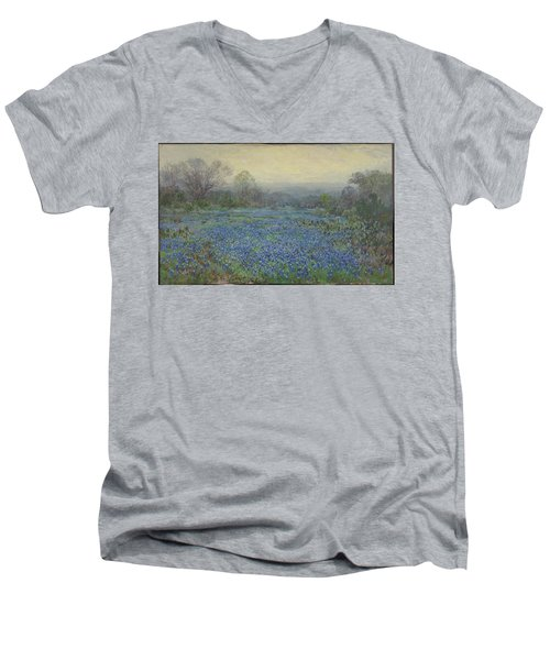 Field Of Bluebonnets Men's V-Neck T-Shirt