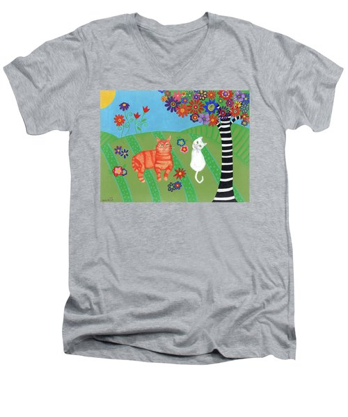 Field Of Cats And Dreams Men's V-Neck T-Shirt