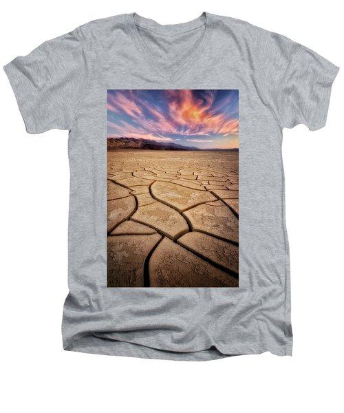 Field Of Cracks Men's V-Neck T-Shirt