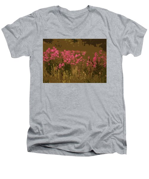 Field Of Flowers Men's V-Neck T-Shirt by Rowana Ray