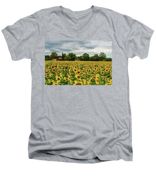 Field Of Sunshine Men's V-Neck T-Shirt
